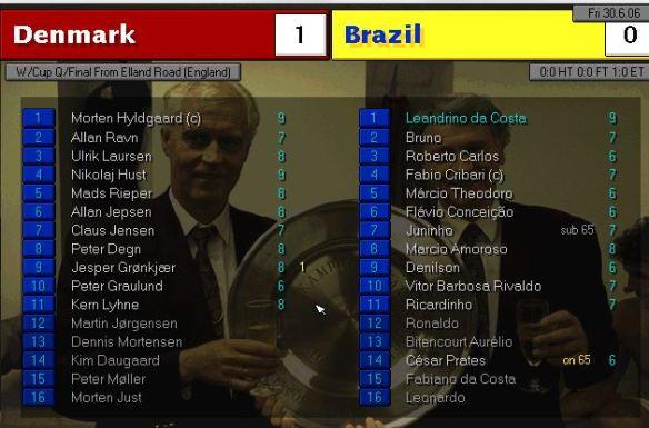 denmark 1 - 0 brazil
