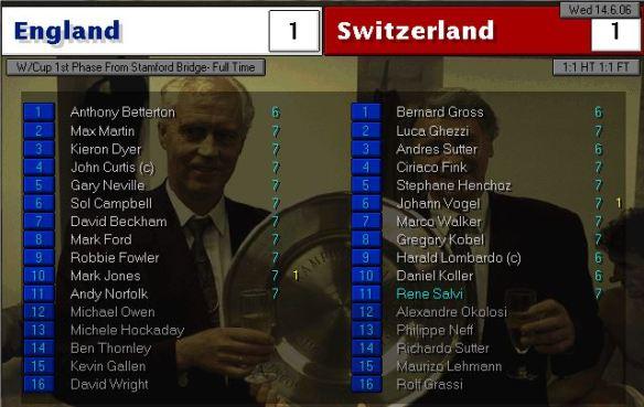 england 1 - 1 swiss