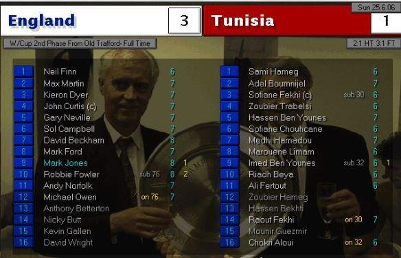 England 3 - 1 Tunisia