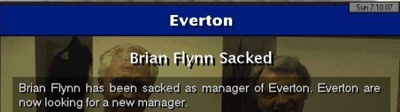 everton sack flynn