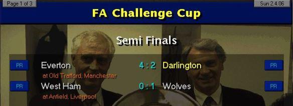 FA Cup SF Results