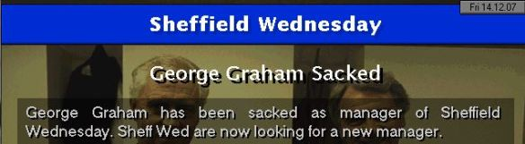 graham sacked by sheff wed