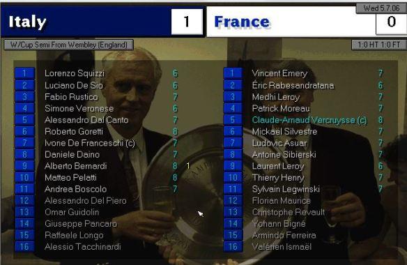 italy 1 - 0 france