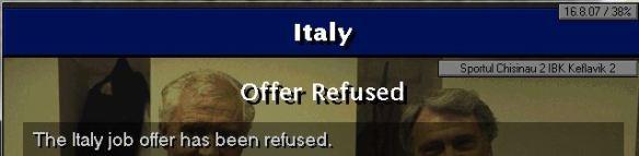 italy job refused