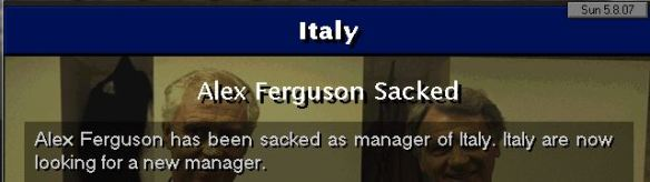 Italy sack SAF