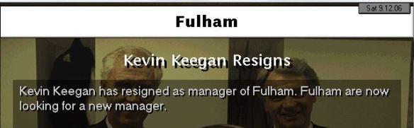keegan resigns