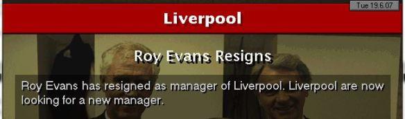 roy evans resigns