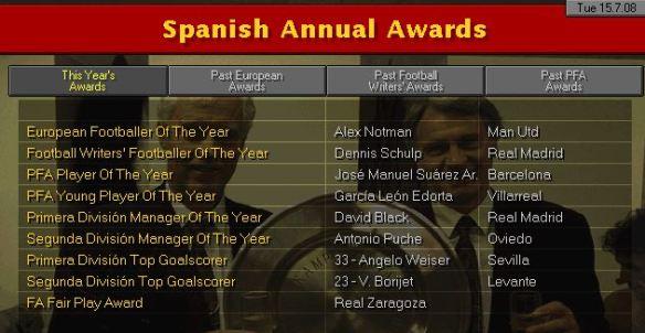 awards 08 spain