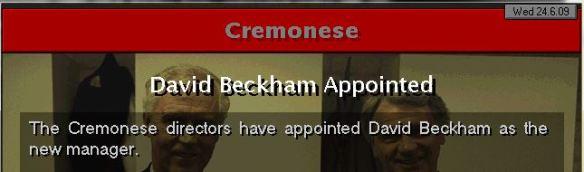 Beckham to Cremonese