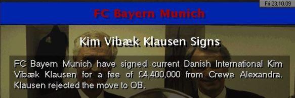 Crewe to Bayern