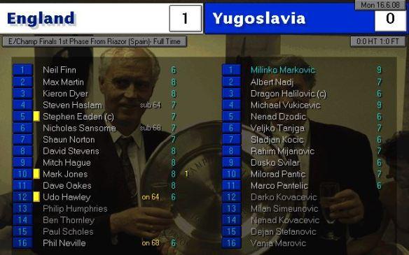 england 1 - 0 yugoslavia