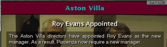 evans to villa