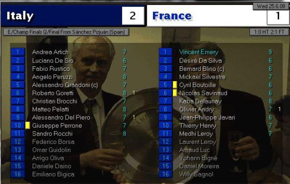 italy 2 - 1 france