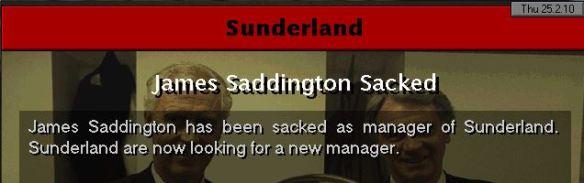 saddington sacked safc