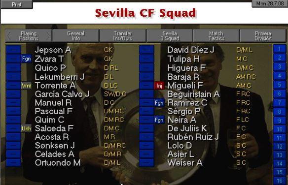 Sevilla squad