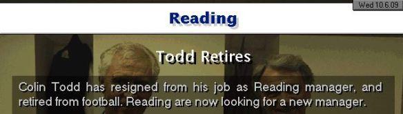 todd retires