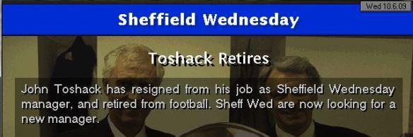 toshack retires