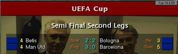 UEFA Cup SF Results