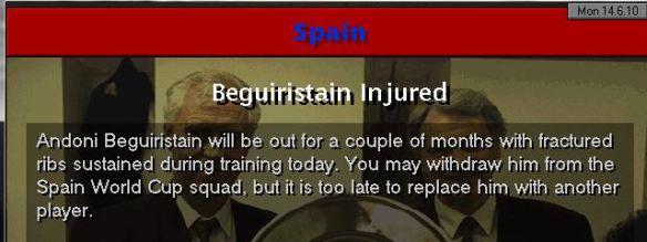 begu injured