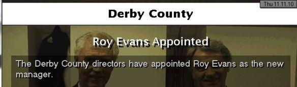 evans to derby