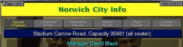 norwich manager