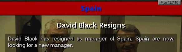 resign from spain