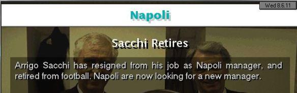 sacchi retires