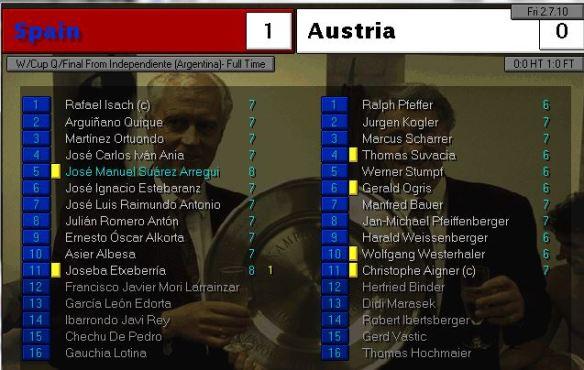 spain 1 - 0 austria