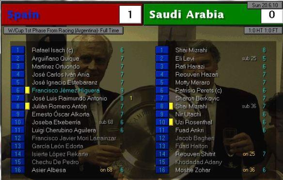 spain 1 - 0 saudis