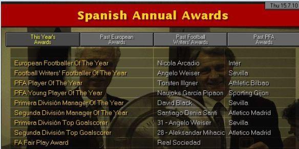 spanish awards