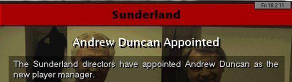 sunderland appoint duncan