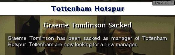 tomlinson sacked