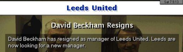 beckham quits leeds
