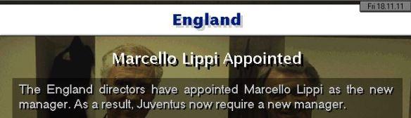 England appoint Lippi