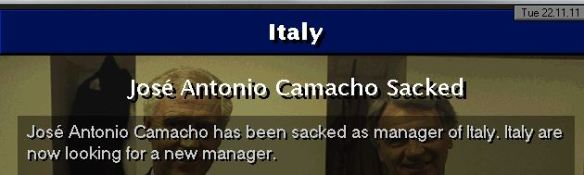 Italy sack Camacho