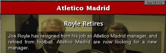 joe royle retires