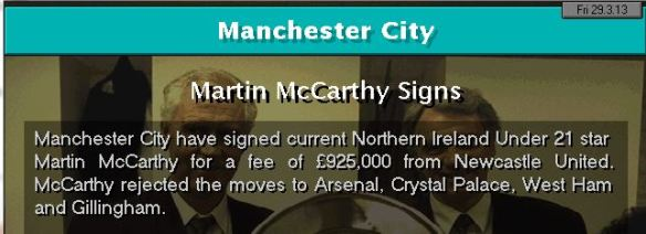 mccarthy to city
