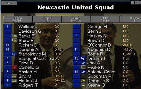 nufc squad