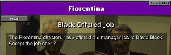 offered fiorentina job