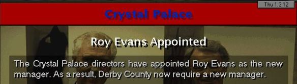 roy evans to palace