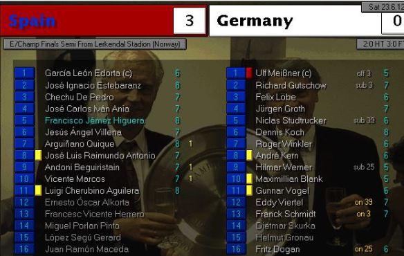 spain 3 - 0 germany