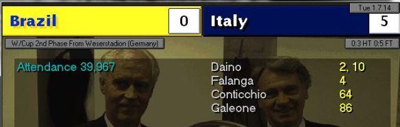 brazil 0 - 5 italy