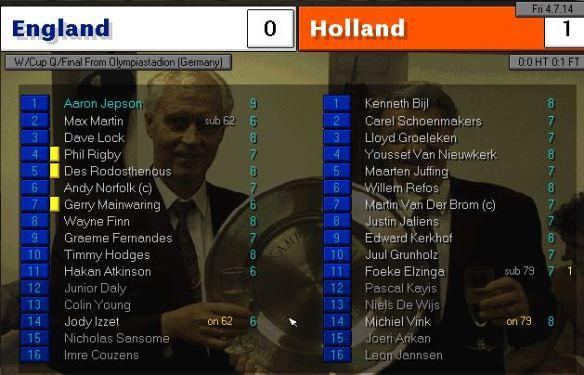 england 0 - 1 holland