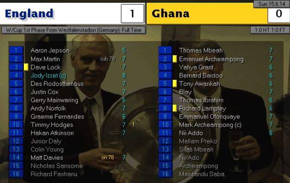 england 1 - 0 ghana