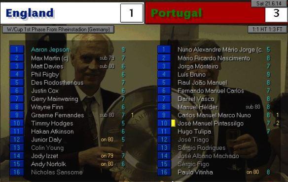 england 1 - 3 portugal