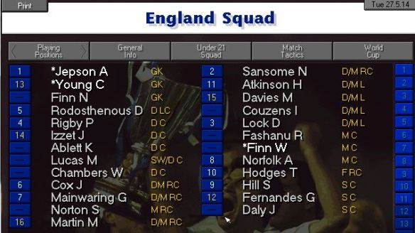 England 14 squad