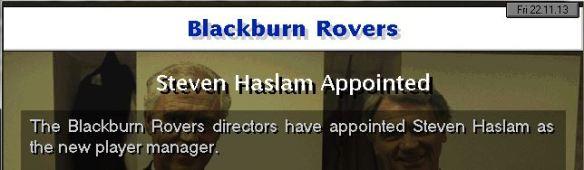 haslam to blackburn