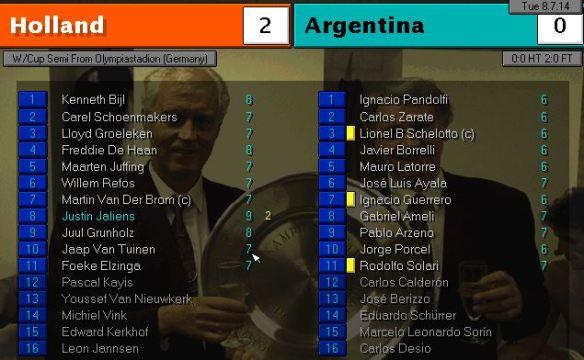 holland 2 - 0 argentina