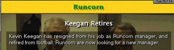 keegan retires