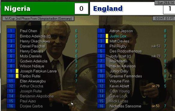 nigeria 0 - 1 england